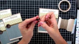 Masculine Card Making Video Tutorial Mass Producible