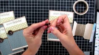 Masculine Card Making Video Tutorial Mass Producible