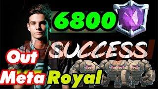 Royal 6800+ LIVE Ladder Push | Best  Golem Player  ever  BUT......