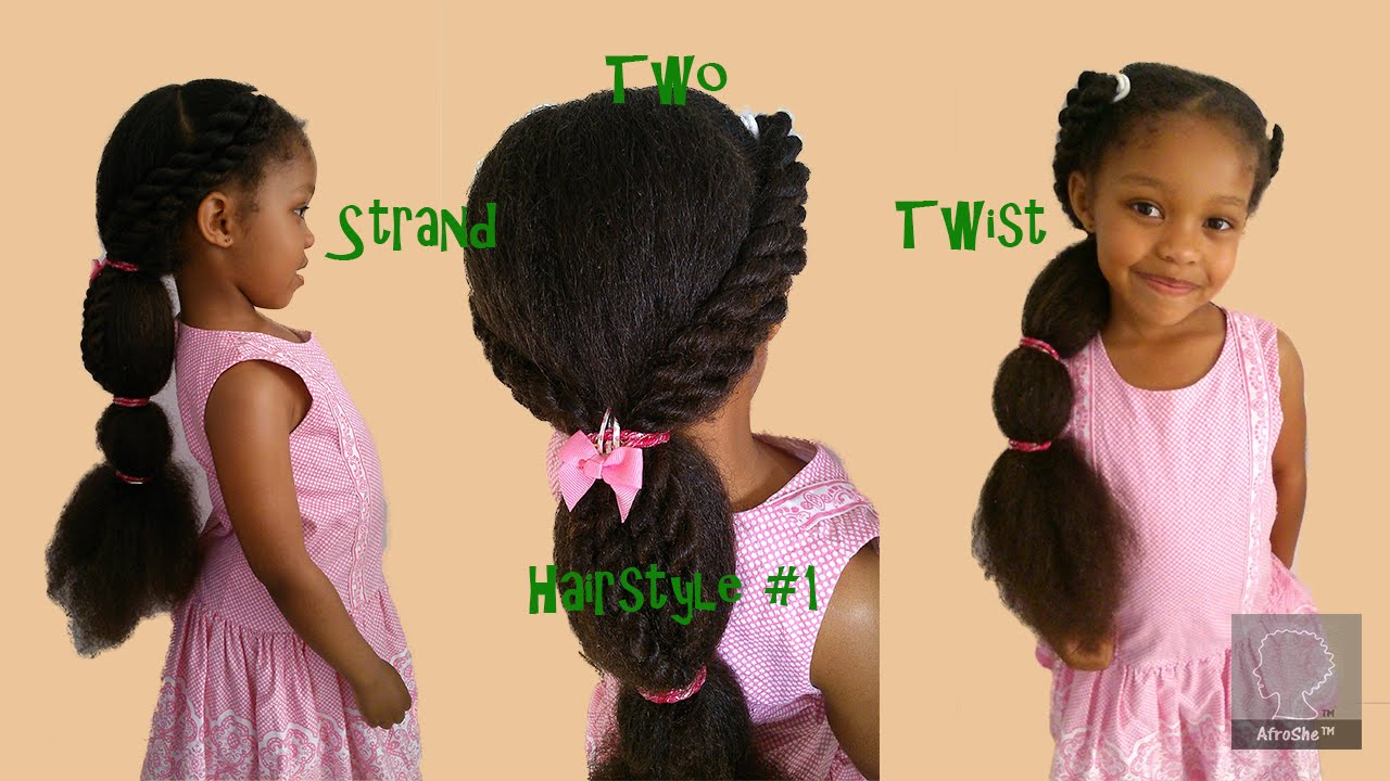 natural hair styles for little girls how to two strand twist hairstyle on hair 2395 | maxresdefault