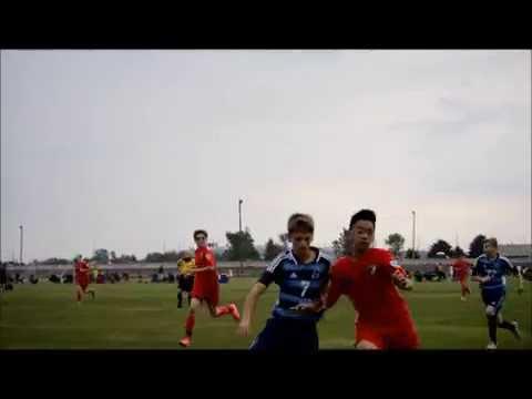 Kevon Hang #10 (Vardar RED 02) Vs CAKpremier '02 Blue & Perrysburg BU14 Gold - BowlingGreenSoccerCha