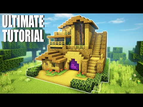 """minecraft-tutorial:-how-to-make-a-ultimate-wooden-survival-base-3-""""2020-tutorial"""""""