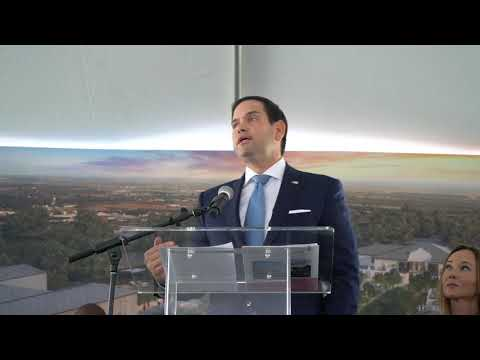 Marco Rubio speaks at Agape Groundbreaking
