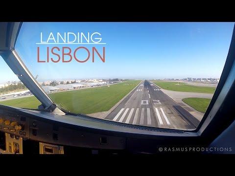 Cockpit View - Airbus A320 Landing in Lisbon Airport (LIS/LPPT)