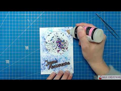 Shaker card - Feu d'artifice - V2 ♦ Réalisation en vidéo