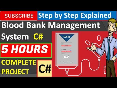 Blood Bank Management System in Csharp (C#, Visual Studio, MsSQL Server) Complete Project