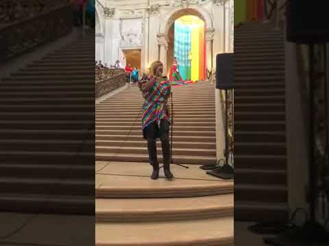 LIVE PERFORMANCE SYLVESTER CAN'T STOP DANCING/ YOU MAKE ME FEEL MIGHTY REAL at SAN FRANCISCO PRIDE