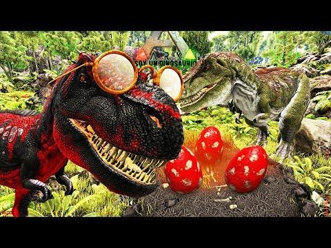 EL AMOR DE UN PADRE DINOSAURIO!!! TIRANOSAURIO REX BUSCAMOS PAREJA Y PONE HUEVOS Soy Un Dinosaurio!