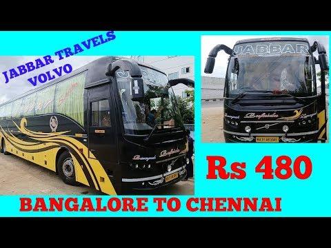 JABBAR TRAVELS VOLVO BUS BANGALORE TO CHENNAI 06.00HRS. DAY SERVICE.