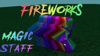 Roblox Script Showcase Episode#716/Fireworks Magic Wand