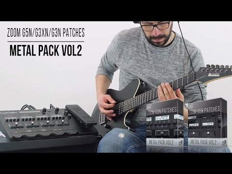 Zoom G5n / G3Xn / G3n Patches | Metal Pack vol2 | Playthrough