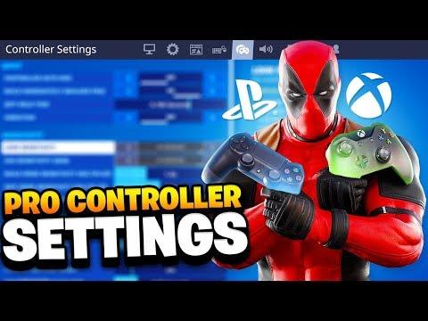 BEST CONTROLLER SETTINGS In Fortnite! PRO PLAYER SETTINGS FOR PS4/XBOX! (Fortnite Season 3)