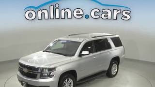 A10687TR Used 2018 Chevrolet Tahoe LT 4WD Silver SUV Test Drive, Review, For Sale