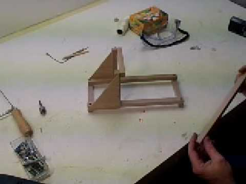 How To Make A Torsion Catapult Table Top Size Mangonel Youtube