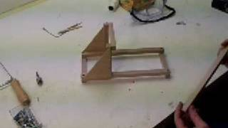 How To Make A Torsion Catapult - Table Top Size Mangonel