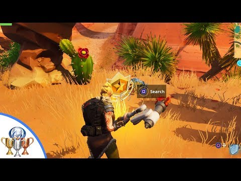 Search Between An Oasis, Rock Archway, And Dinosaurs - Fortnite Season 5 Week 2 Challenge Guide