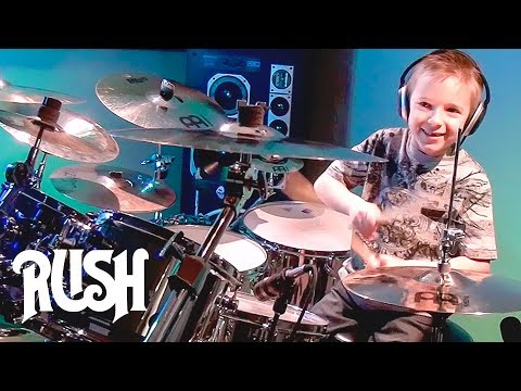TOM SAWYER - RUSH (7 year old Drummer) Drum Cover by Avery Drummer Molek