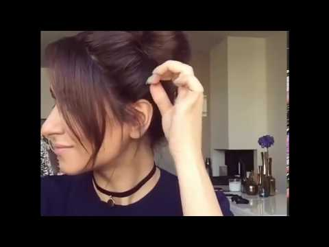 Easy Double Top Updo Hairstyles For medium Hair by Sarah Angius