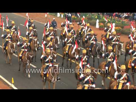 61st Cavalry Regiment of the Indian Army parades on 68th Republic day