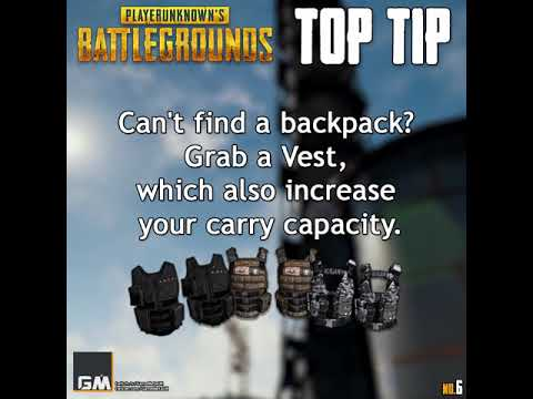 PUBG - Top Tip #6 - Carry Capacity and Vests