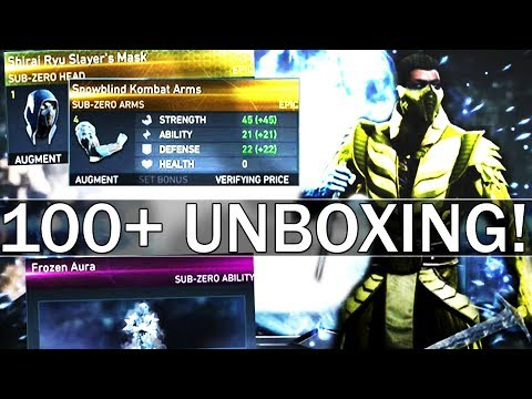 Sub Zero Mother Box OPENING! OVER 100 Boxes! (Injustice 2)