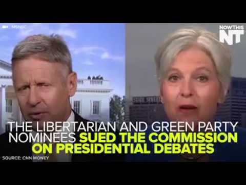 Gary Johnson & Jill Stein lose lawsuit on Presidential Debates