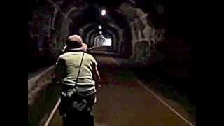 Cycle ride through the Headstone Tunnel  - Monsal Trail - Peak District National Park