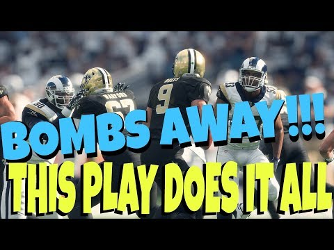 GOING DEEP! EASY 1 PLAY TOUCHDOWN VS COVER 2, 3, & 4! BEST MADDEN 18 MONEY PLAY CHIEFS PLAYBOOK TIPS
