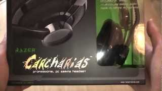 Razer Carcharias gaming headset unboxing
