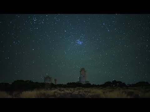 A Real Starfall at the Station of the Astronomical Observatory | Stock Footage