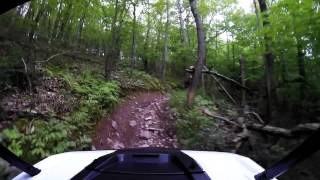 Following Michael up a steep hill in Nesquehoning PA