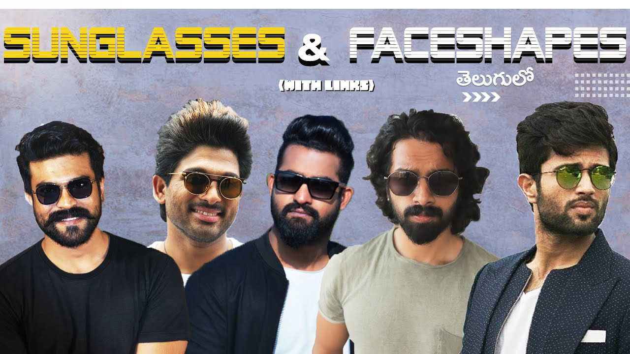 Which  SUNGLASSES Suit Your Face Shape?  | Mens Fashion Telugu | Aye jude!