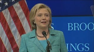 Hillary Clinton Vows 'Distrust and Verify' Approach to Iran