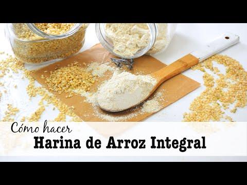 Básico: Cómo hacer Harina de ARROZ integral | fácil y rápido