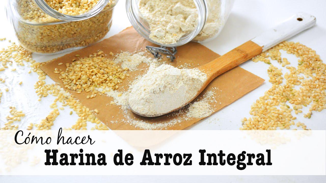 Básico: Cómo Hacer Harina De ARROZ Integral