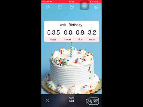 Countdown 365 App Instruction for iPhone