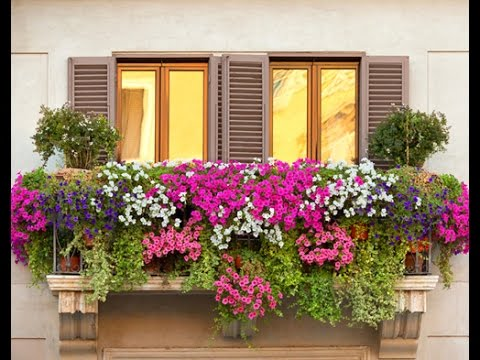 Decoraci n de balcones con flores youtube for Jardineras para balcones