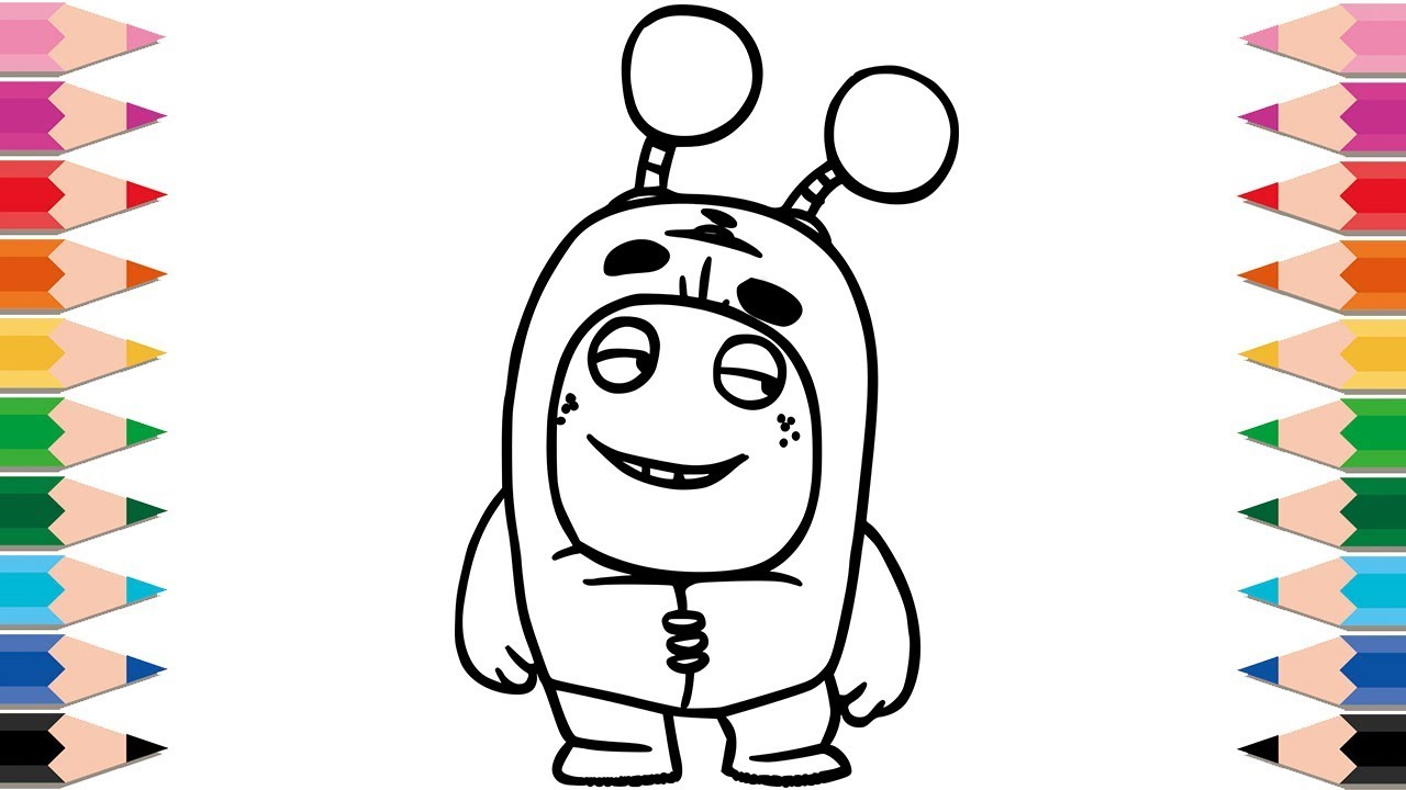 How to Draw Oddbods Slick Coloring