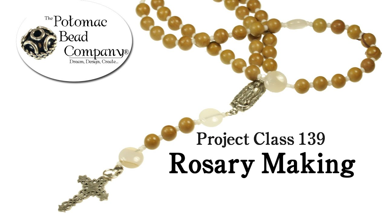 How to Make a Beaded Rosary - YouTube