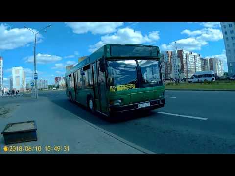 Витебск.Поездка на автобусе №46 Билево-3 - Вокзал
