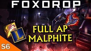 [Season 6] Full AP Malphite Jungle Gameplay - League of Legends