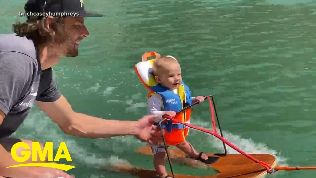 Parents of 6-month-old under fire for waterskiing video speak out l GMA