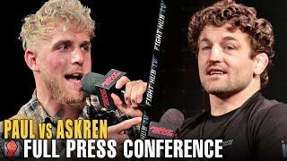 JAKE PAUL VS. BEN ASKRENKICK OFF PRESS CONFERENCE
