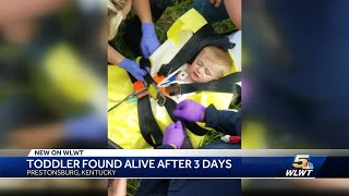 'I was bawling like a baby': How a toddler survived 3 days alone in Kentucky wilderness