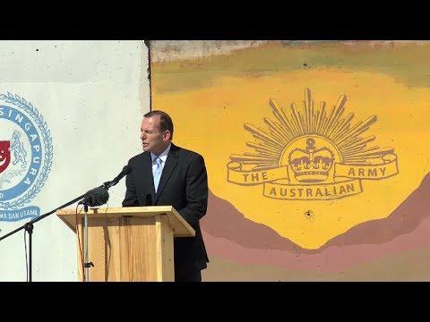 Australian Prime Minister Tony Abbott announces key milestone in Afghanistan