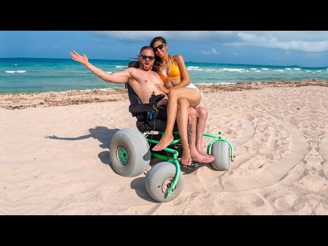 Kevin Johnson - Power Beach Wheelchair!  Amazing!