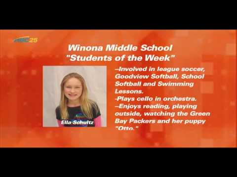 (1-26-15) Winona Middle School Students of the Week for 1-22-15