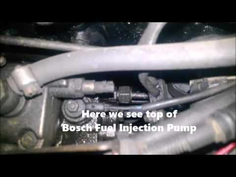 VW Rabbit injection pump leak
