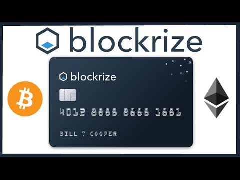 Blockrize Credit Card Company Giving Bitcoin & Ethereum Rewards Instead of Normal CC Rewards Points
