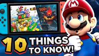 10 Things You NEED to KNOW About SUPER MARIO 3D WORLD + BOWSER'S FURY!! (Before You Buy)